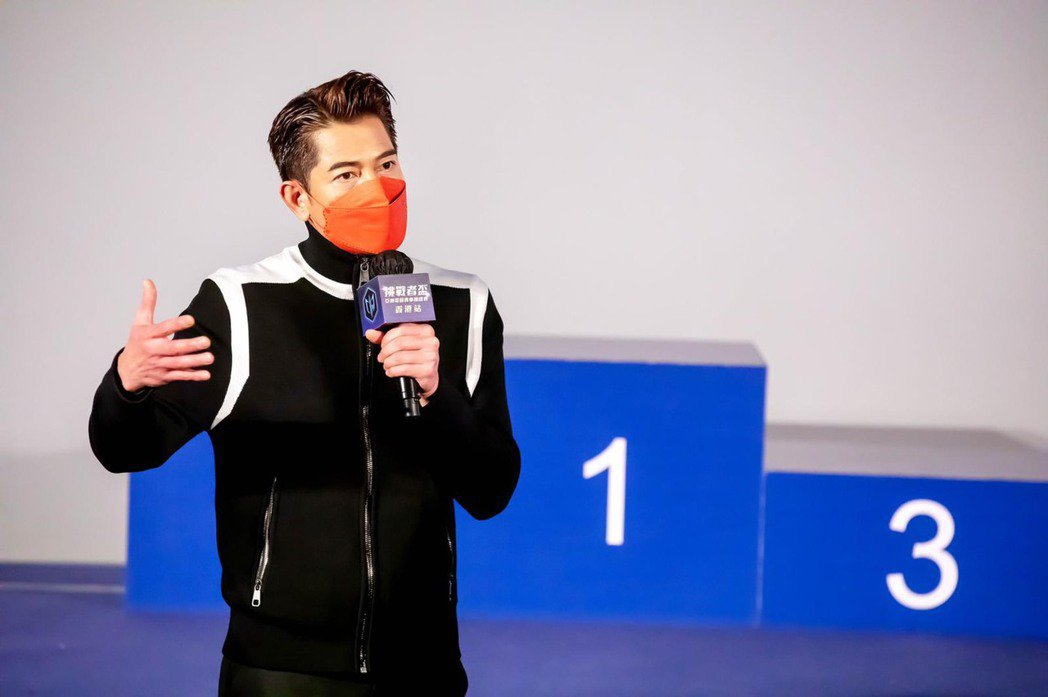 郭富城在香港挑戰者盃亞洲電競賽車錦標賽擔任頒獎嘉賓。圖/挑戰者集團提供
