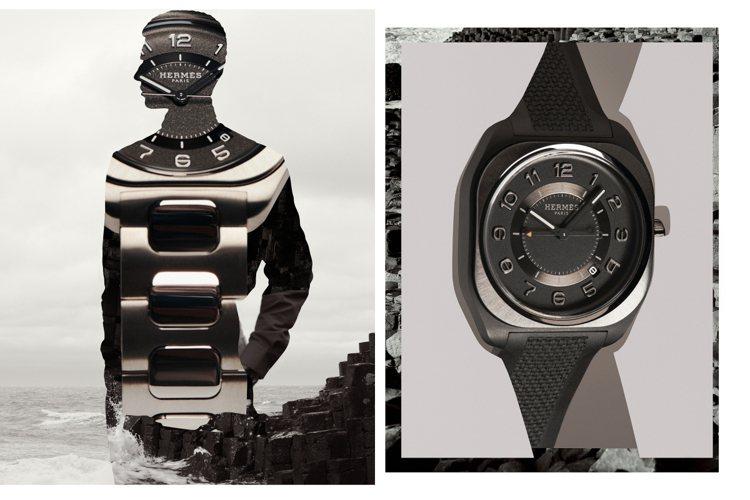 愛馬仕今年推出全新的H08系列男表。圖/愛馬仕提供