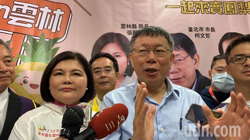 台北市長柯文哲今天到雲林跑行程,今午接受媒體聯訪有問必答。記者陳苡葳/攝影