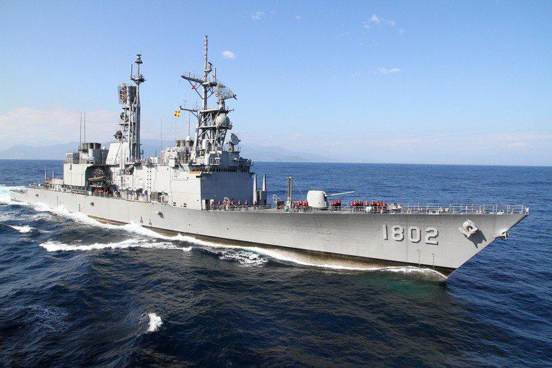 國軍紀德艦進行海上操演的畫面。圖/聯合報系資料照片