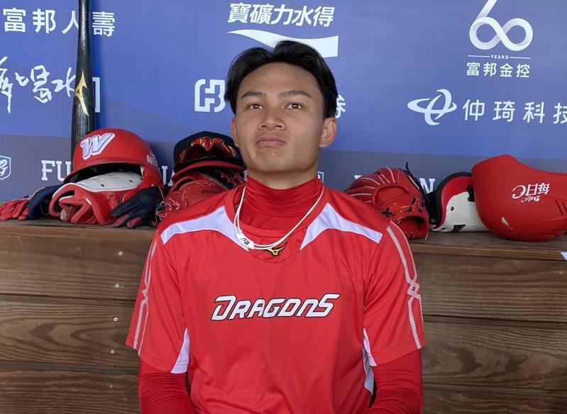 味全龍投手徐若熙最快可在14日回到一軍。記者陳宛晶/攝影