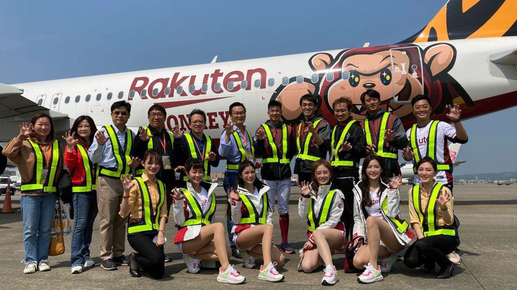 台灣虎航與國內職業棒球隊Rakuten Monkeys合作推出首架彩繪機之「台虎...