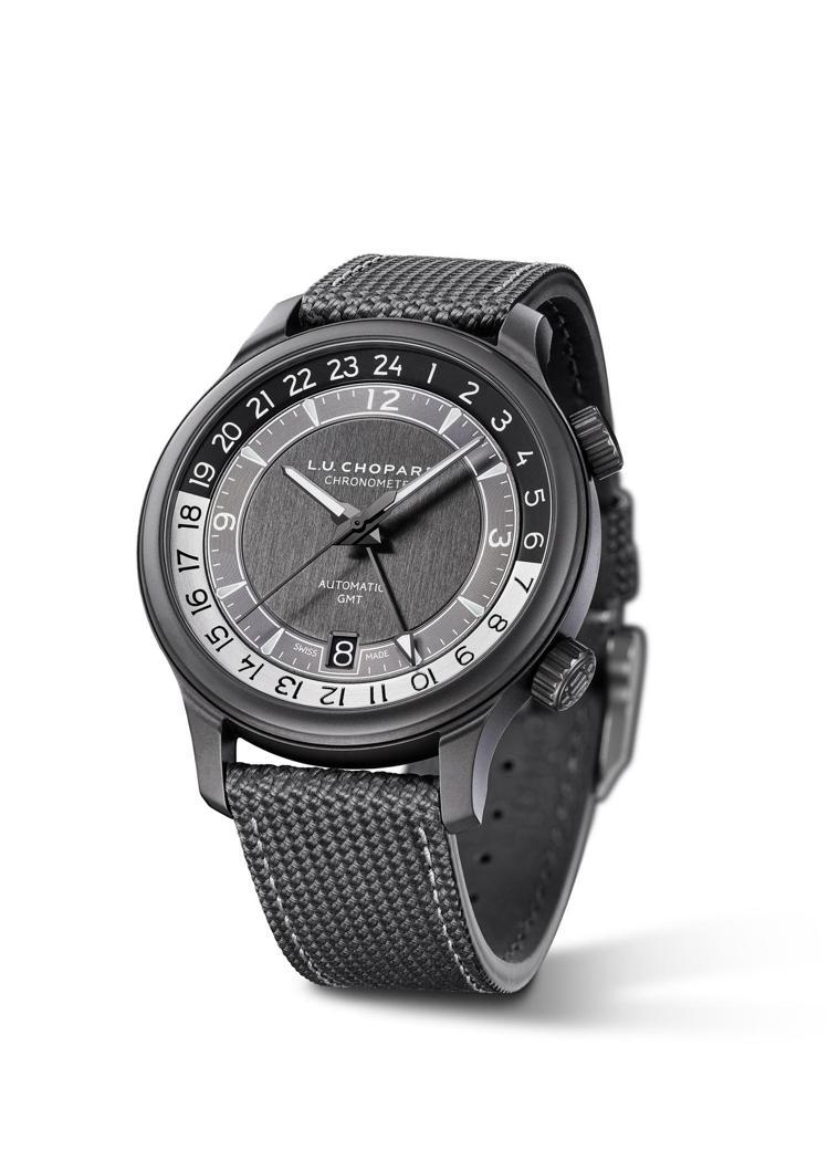 L.U.C GMT One Black腕表,42毫米5級陶瓷鈦金屬表殼、L.U....