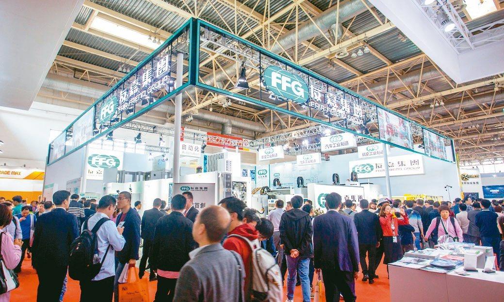 友嘉集團在2019中國際機床展覽會(CIMT)的攤位。友嘉集團/提供