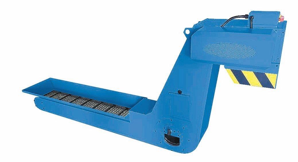 逢吉新一代鏈板滾筒式排屑機廣受國內業界青睞。魯修斌/攝影