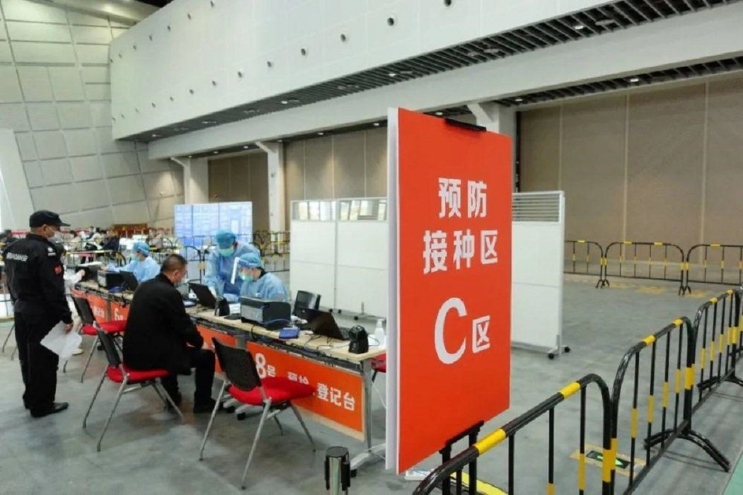 昆山花橋國際博覽中心提供台灣人免費接種新冠疫苗。房天下