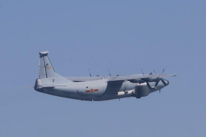 中共運-8遠干機今侵入我西南防空識別區