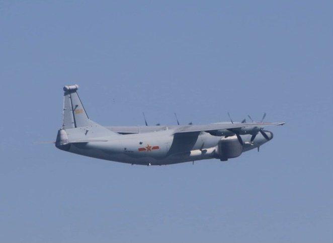 中共運-8遠干機今侵入我西南防空識別區。國防部