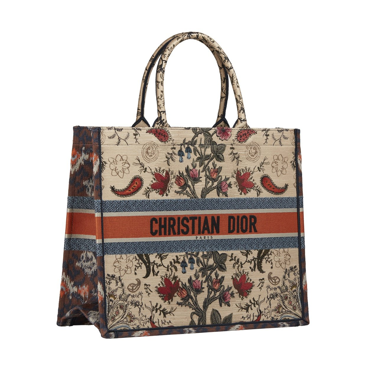 DIOR Book多彩花卉刺繡托特包,11萬元。 圖/DIOR提供