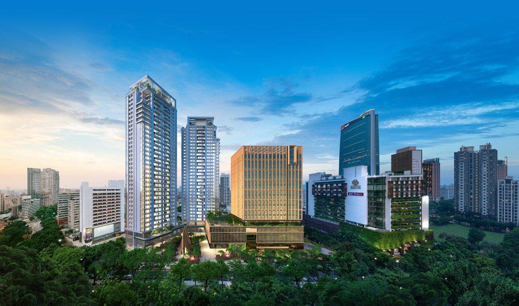 勤美集團主導的住宅案「勤美之森」、洲際酒店以及教堂等綜合開發案,是台中市近10年...