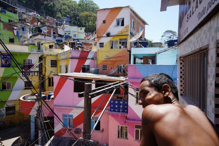 典型的巴西貧民窟景觀