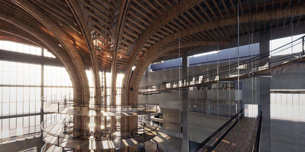 夢工廠中優美絕倫令人嘆為觀止的木構「生命樹」為世界唯一室內最大木結構,團隊也正式...