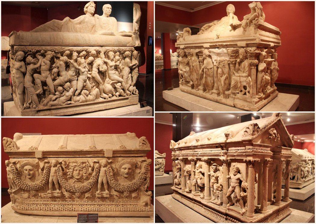 羅馬帝國時期的石棺,當時是在安塔利亞省的 Perge 製作後,再銷往包括羅馬在內的羅馬帝國各個角落。
