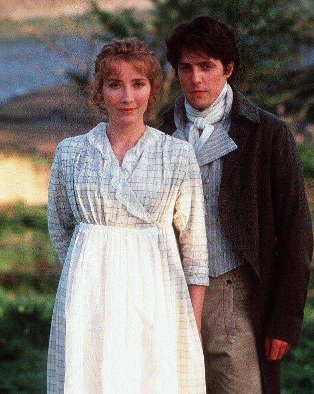 休葛蘭(右)與艾瑪湯普遜主演「理性與感性」。圖/摘自imdb