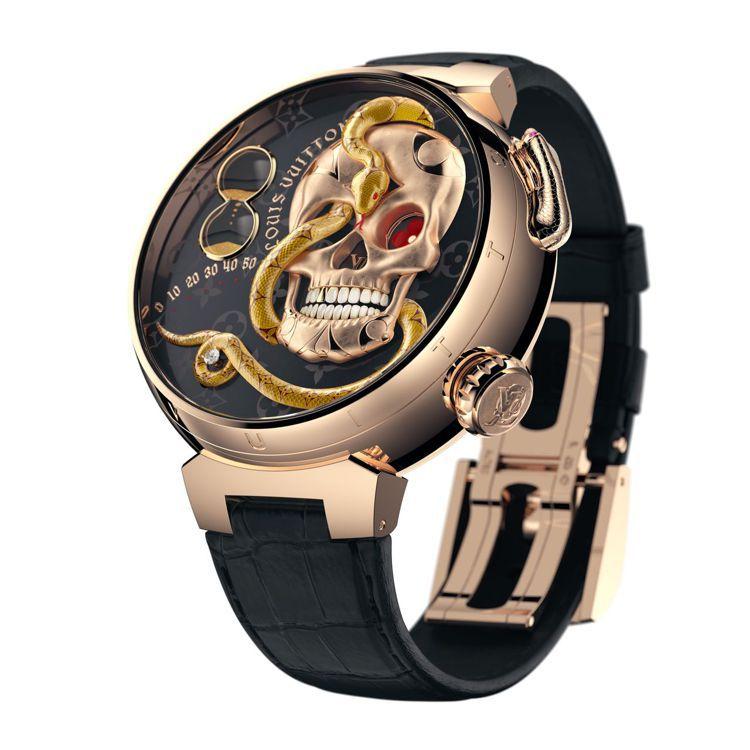 路易威登Tmabour Carpe Diem腕表,售價未定。圖/路易威登提供