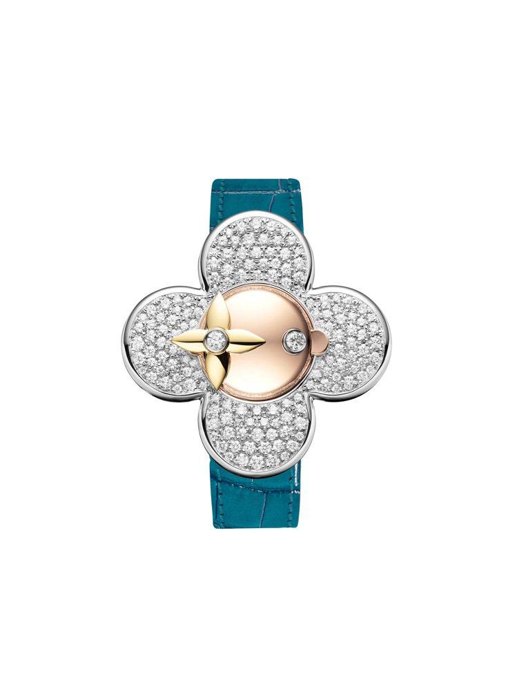 Vivienne Bijou Secret神秘珠寶表配孔雀藍色皮革表帶,售價未定...