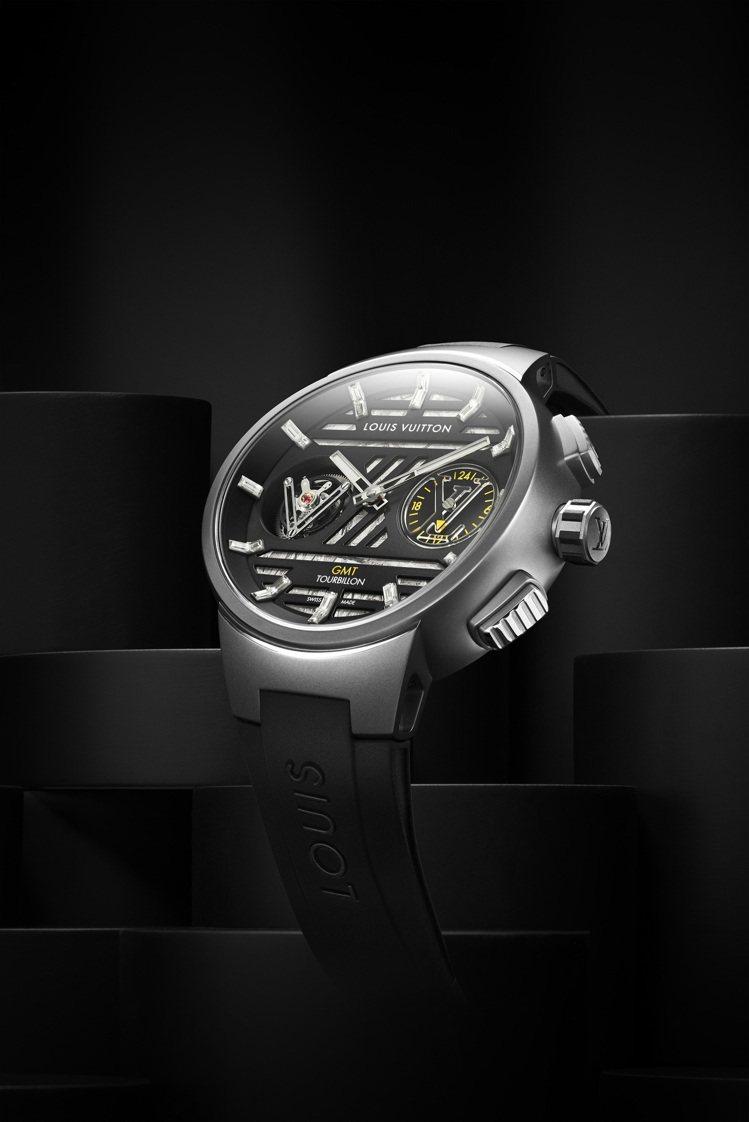 Tambour Curve GMT飛行陀飛輪腕表鈦金屬款,配納米比亞挖掘的吉丙隕...