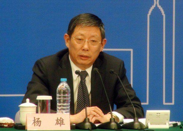 上海前市長楊雄。(取自新浪微博)