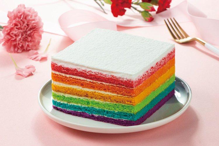 彩虹多莉蛋糕(6吋),售價599元。圖/愛買量販提供