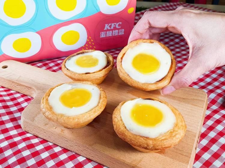 使用比利時檸檬醬製作的「日光檸檬蛋撻」,單顆售價42元。記者陳睿中/攝影