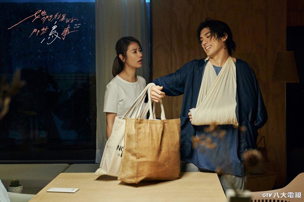林心如(左)與林哲熹劇中的感情是否能成定局,備受戲迷關注。圖/八大提供
