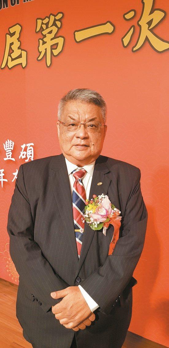 臺灣機械工業同業公會第29屆新科理事長魏燦文。魯修斌/攝影