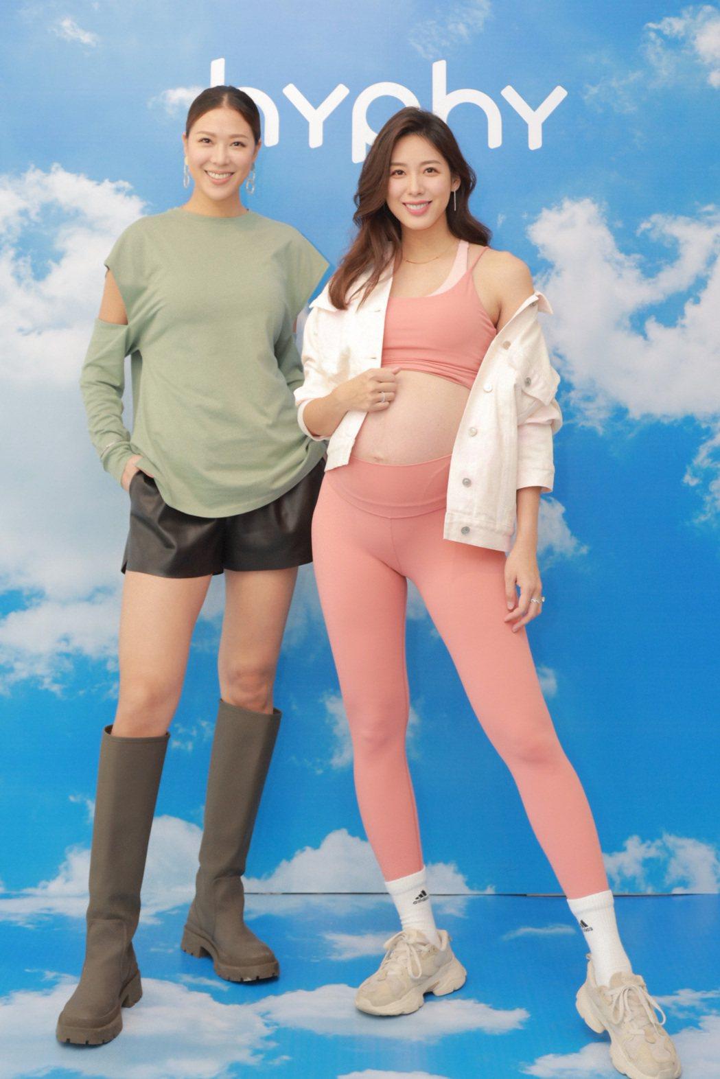 林可彤(右)、林又立為自家品牌新品上市宣傳。圗/hyphy提供