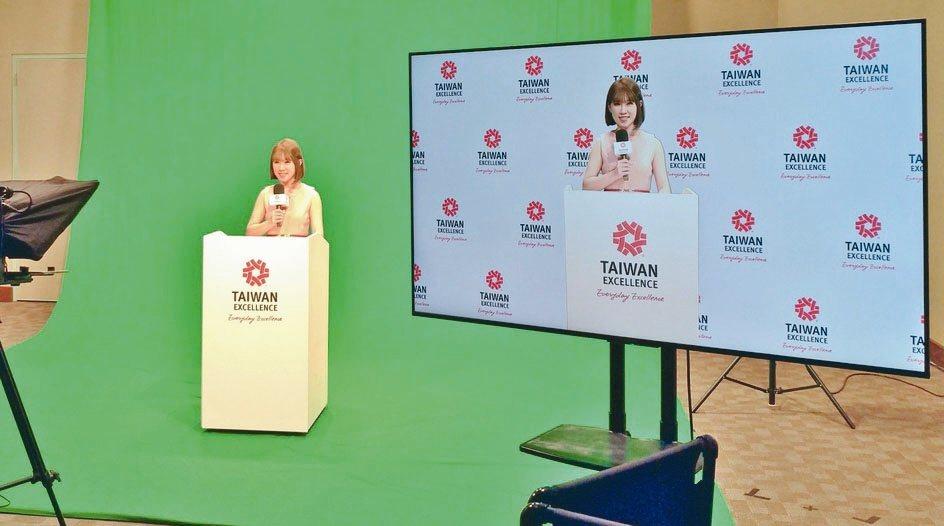 「台灣精品」使用TICC新設數位攝影棚拍攝專業影片。貿協/提供