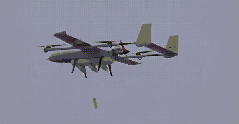 大陸軍用「無人飛行母機」能攜帶9架任務子機,在強對抗環境下抵達任務點空域後開艙播...