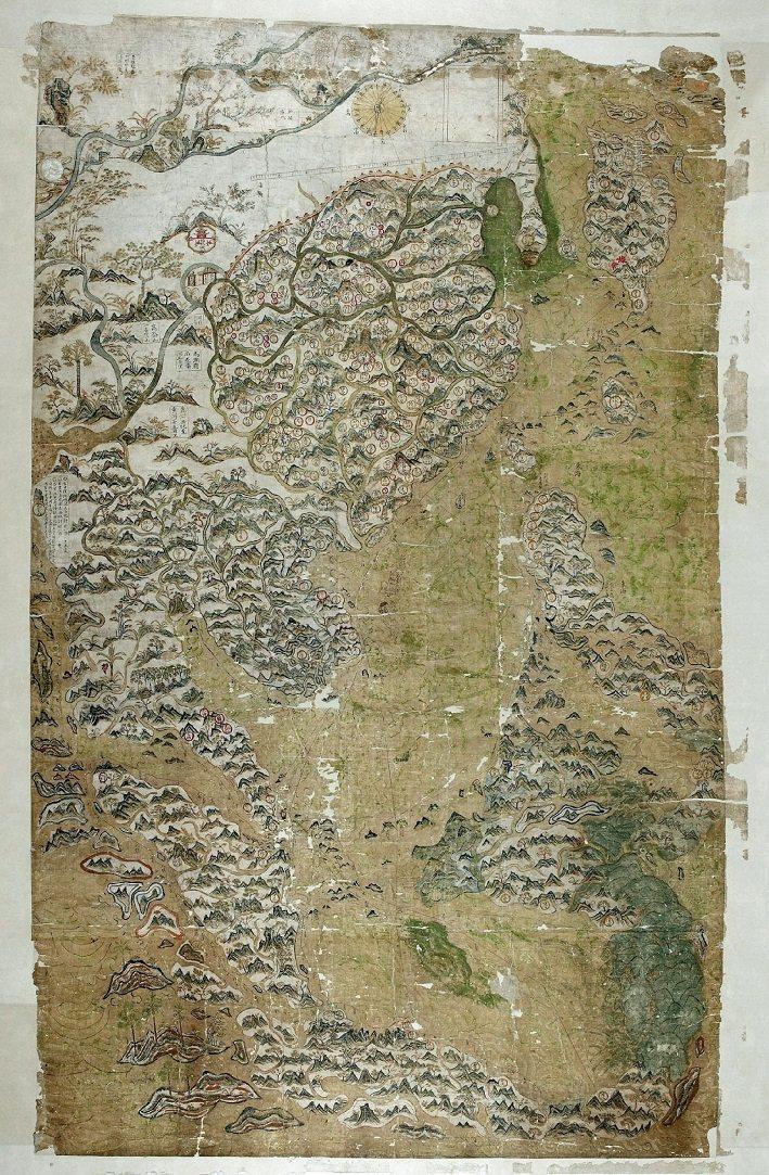 牛津大學鮑德林圖書館藏《雪爾登中國地圖》 圖/聯經出版提供