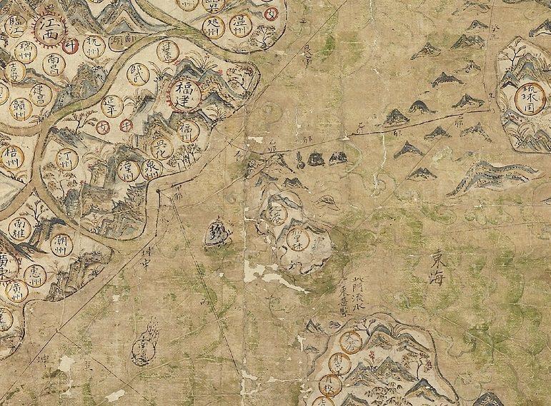 《雪爾登中國地圖》所標泉州為始發港的東西洋航線 圖/聯經出版提供