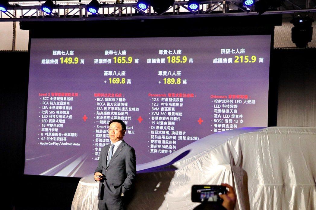 KIA Carnival售價149.9萬起。 記者陳威任/攝影