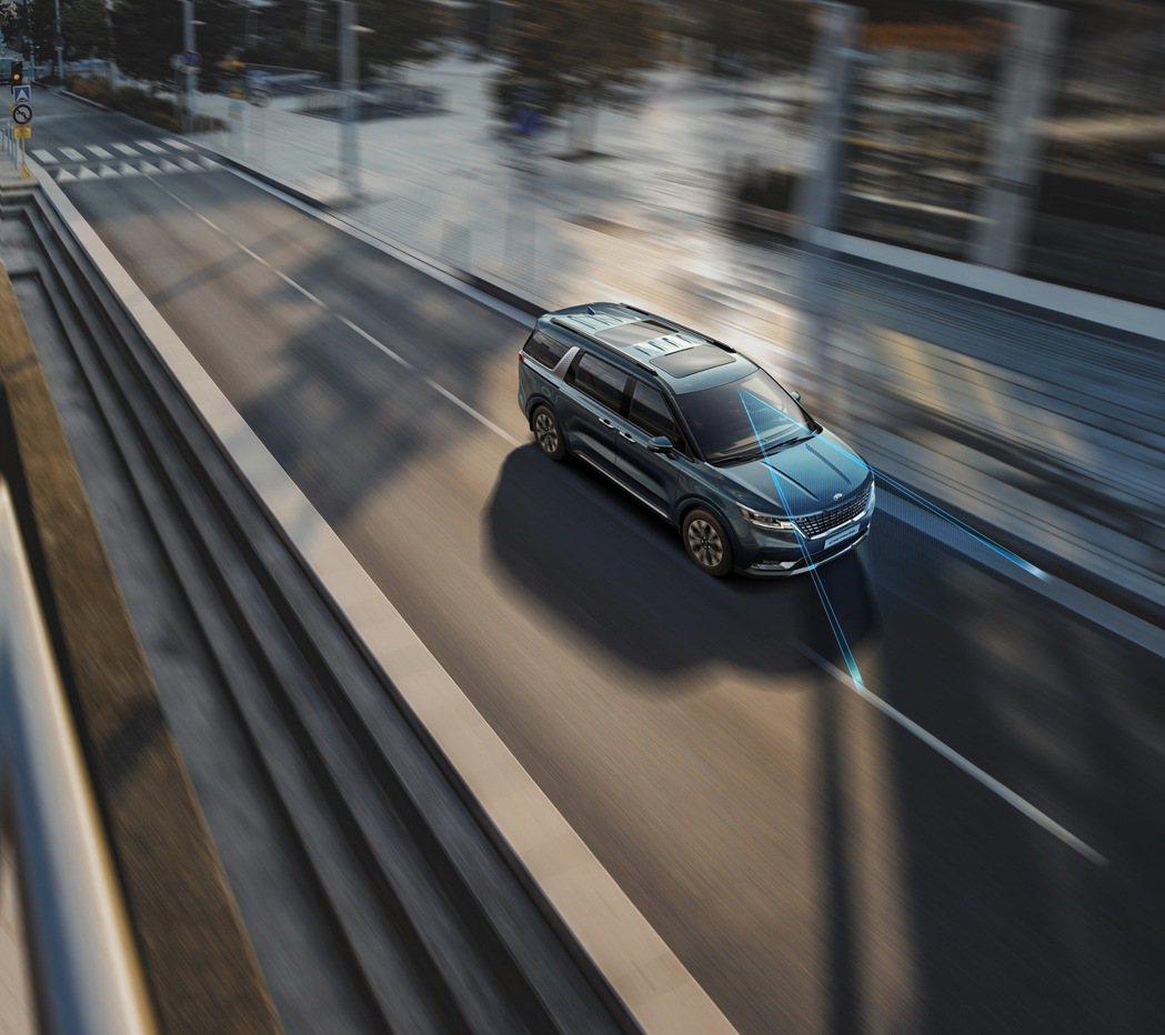LFA進階型車道維持輔助系統(全速域)。 圖/台灣森那美起亞提供