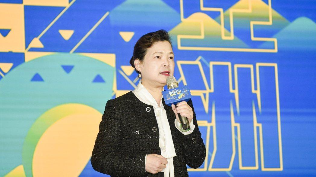 經濟部部長王美花致詞。 圖/亞太社創高峰會提供