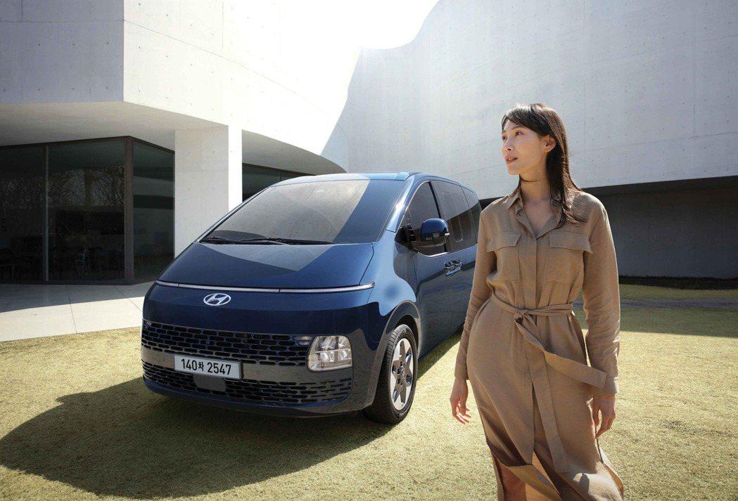 Hyundai Staria今日(13)在自家韓國市場正式登場。圖為11人座St...