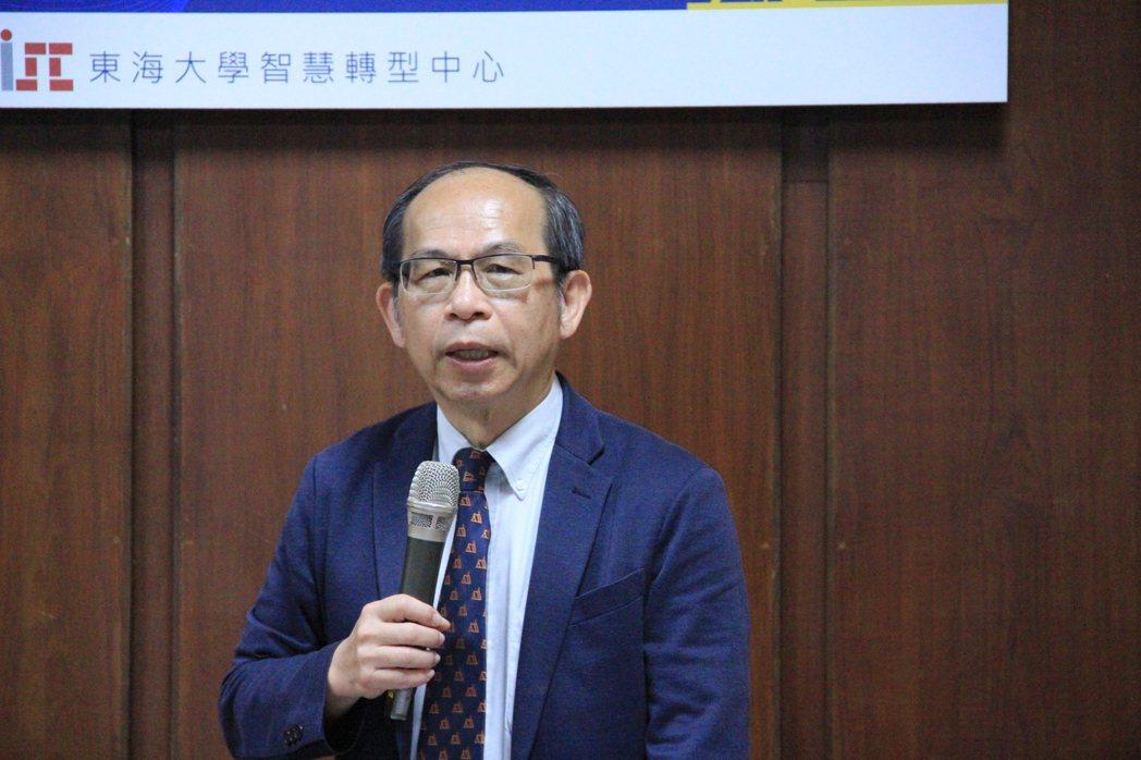 東海大學管理學院陳鴻基院長。 戴辰/攝影
