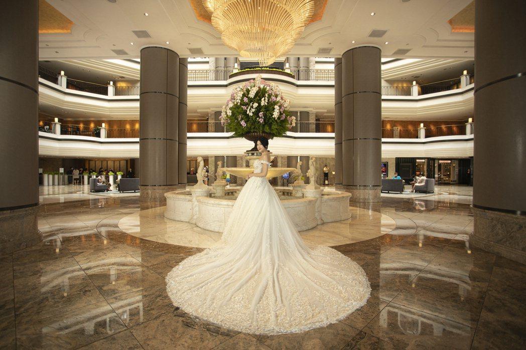 台北君悅酒店量身打造奢華婚禮。 台北君悅酒店/提供