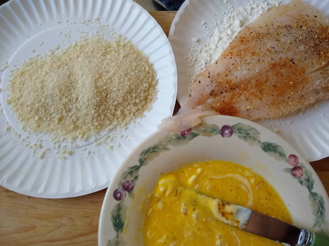 圖文:美國番媽/食譜/美式烤香酥脆黑線鱈