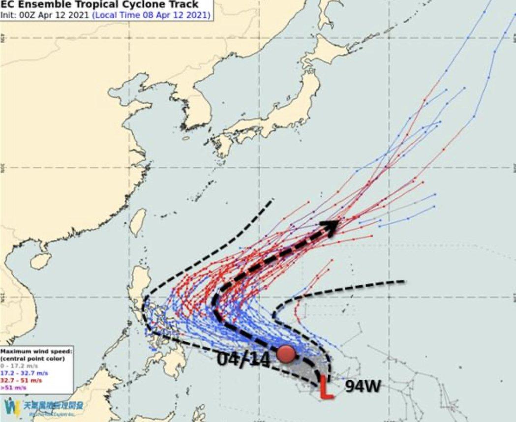 天氣風險公司分析師吳聖宇在臉書上表示,今年第2號颱風「舒立基」可能是顆又大又強的...