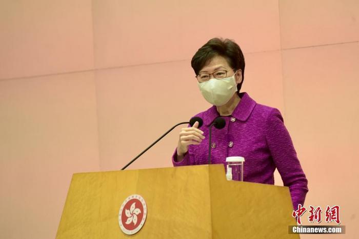 香港特首林鄭月娥宣布,5月中旬開始,在大陸居住的非香港居民抵港均可豁免14天強制檢疫。(圖/取自中新網)