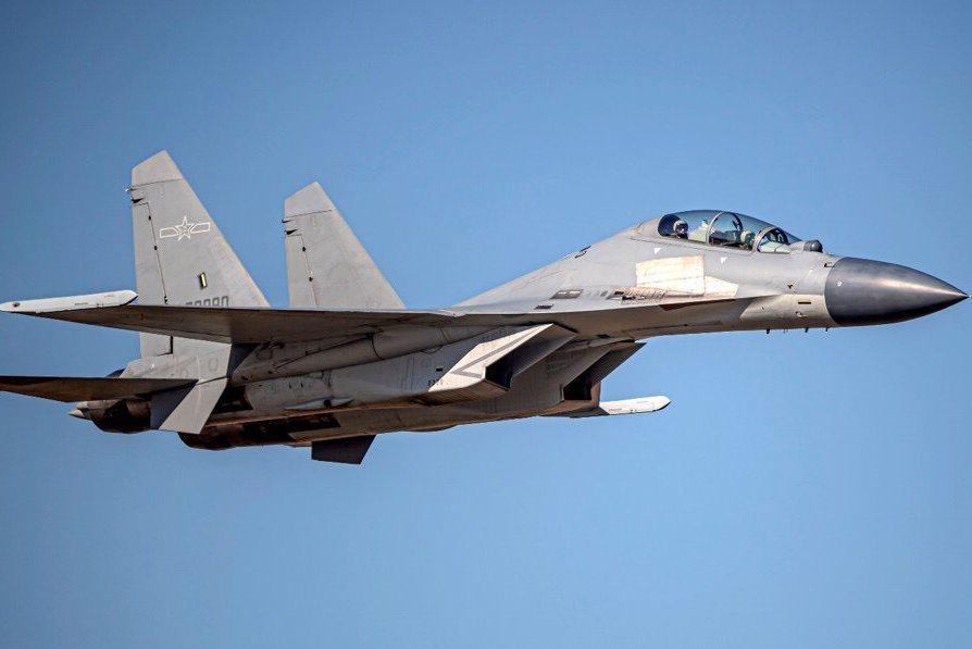 解放軍殲16戰機示意圖。圖/國防部提供