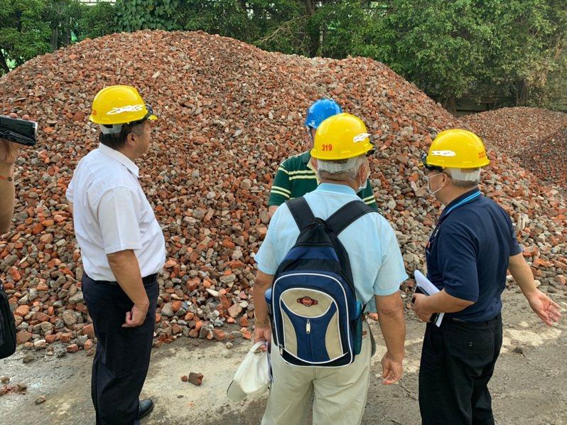 台中市環保局訂定營建廢棄物處分原則,加強稽查。圖/環保局提供
