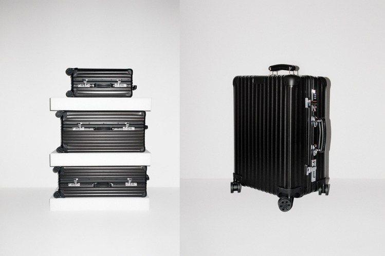 RIMOA首度推出全新霧黑配色Classic系列行李箱,包括提把皮革、滑輪都能搭...
