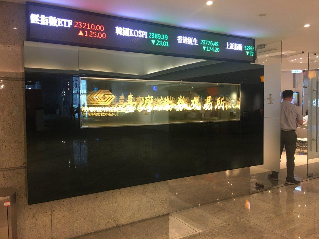 臺灣證券交易所。本報資料照片