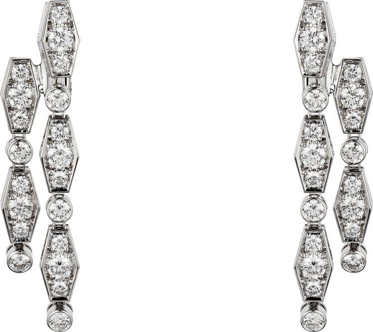 Pluie de Cartier鑽石耳環,約100萬元。圖/卡地亞提供