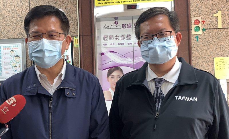 林佳龍今天下午到桃園敏盛綜合醫院探視太魯閣號傷者,強調自己辭職心意已決。記者陳俊智/攝影