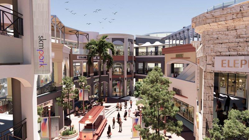 百貨龍頭新光三越宣布跨足OUTLET市場,在高雄草衙道打造SKM Park。圖/業者提供