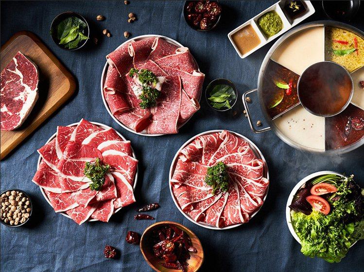 湊一鍋微風南京店將於4月16日開幕,推出適合多人共享的「七格鍋」。圖/湊一鍋提供