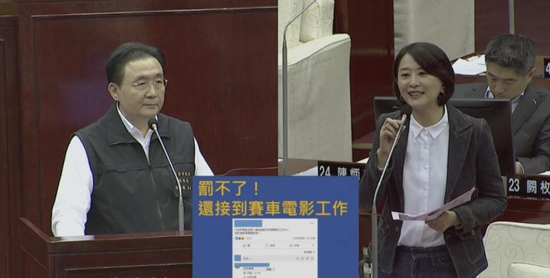 王鴻薇表示,日前就有網紅在民生社區開跑車炸街,引發民眾在網路上抱怨,要求北市除了固定式的噪音照相以外,也應該增加移動式噪音照相。圖/翻攝網路