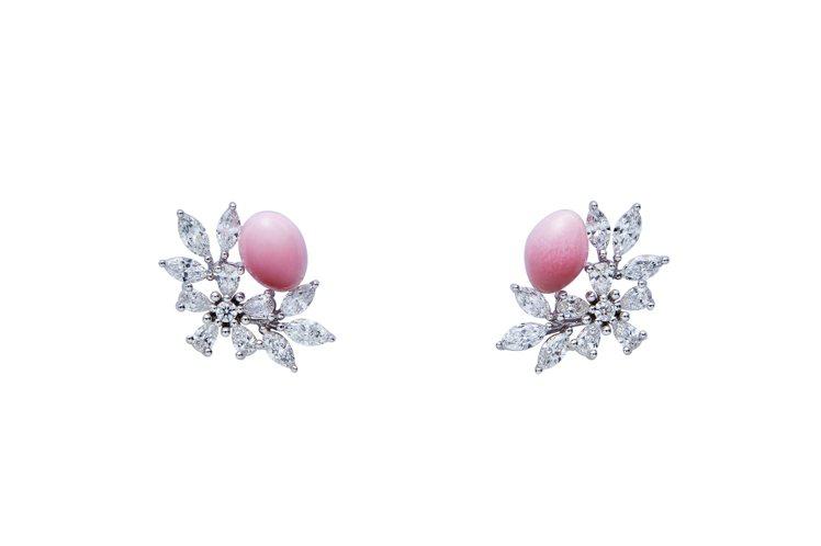 MIKIMOTO Natural Pearl頂級珠寶系列孔克珍珠鑽石耳環,99萬...